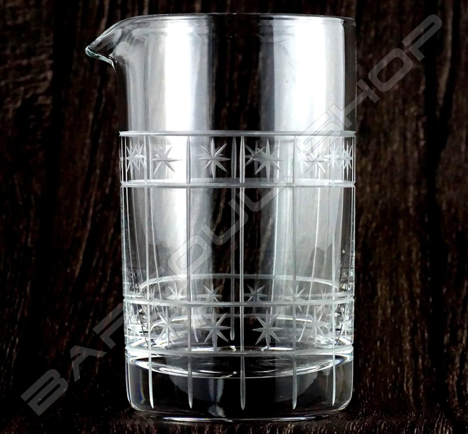 水晶攪拌杯 星空款630ml Crystal mixing glass (sky) H15cm