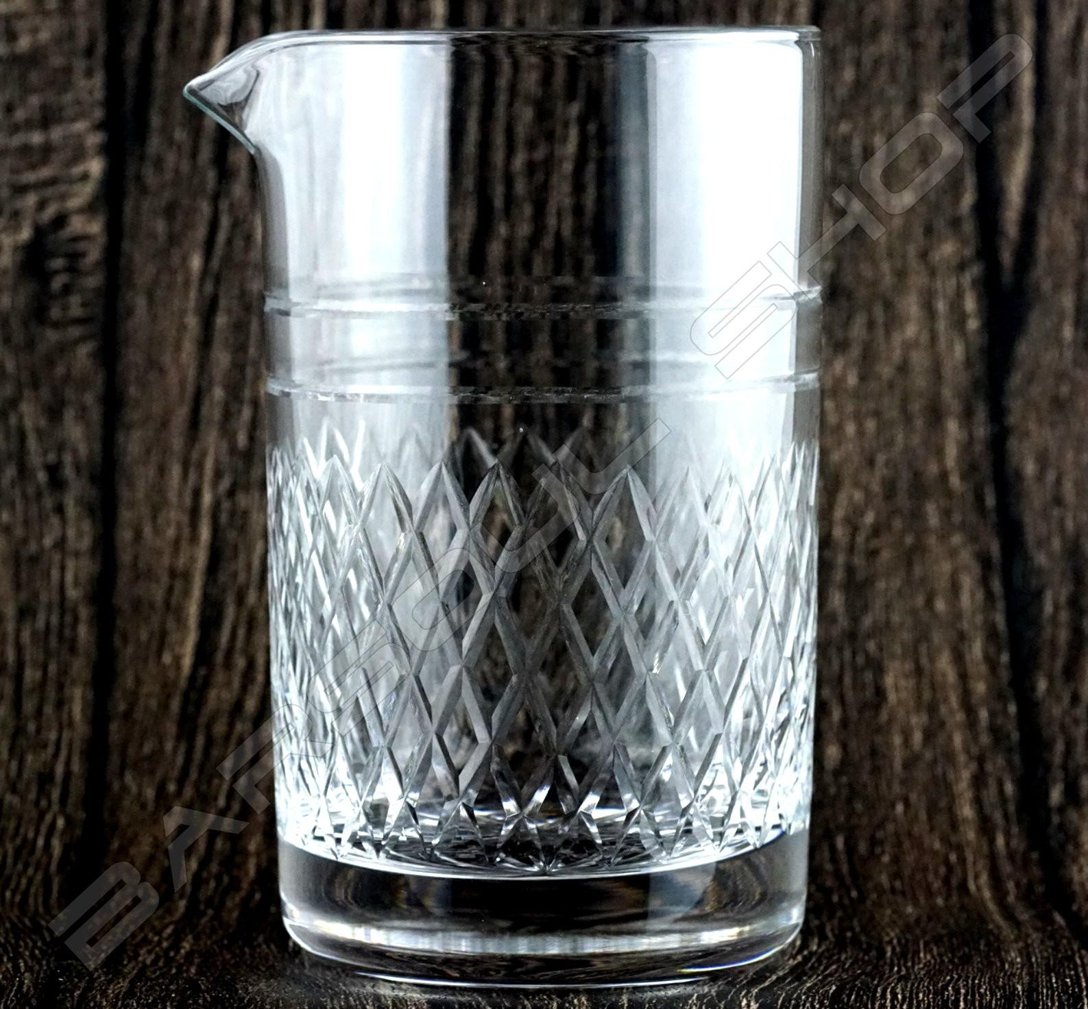 水晶攪拌杯 鑽石款630ml Crystal mixing glass (Diamond) H15