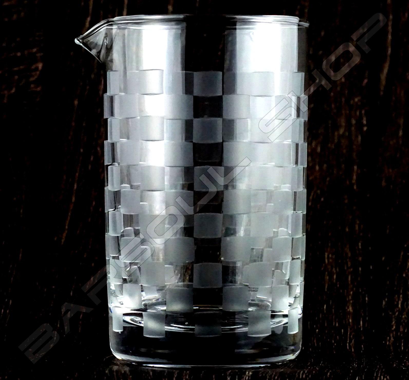 水晶攪拌杯 馬賽款A 630ml Crystal mixing glass (Mosaic A) H15cm
