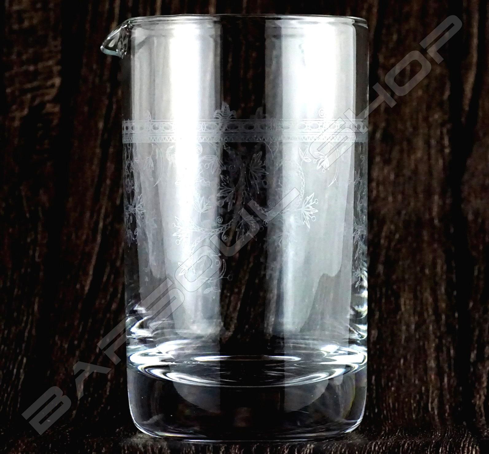 玻璃攪拌杯 羅馬微刻 Crystal mixing glass (Rome) H15cm