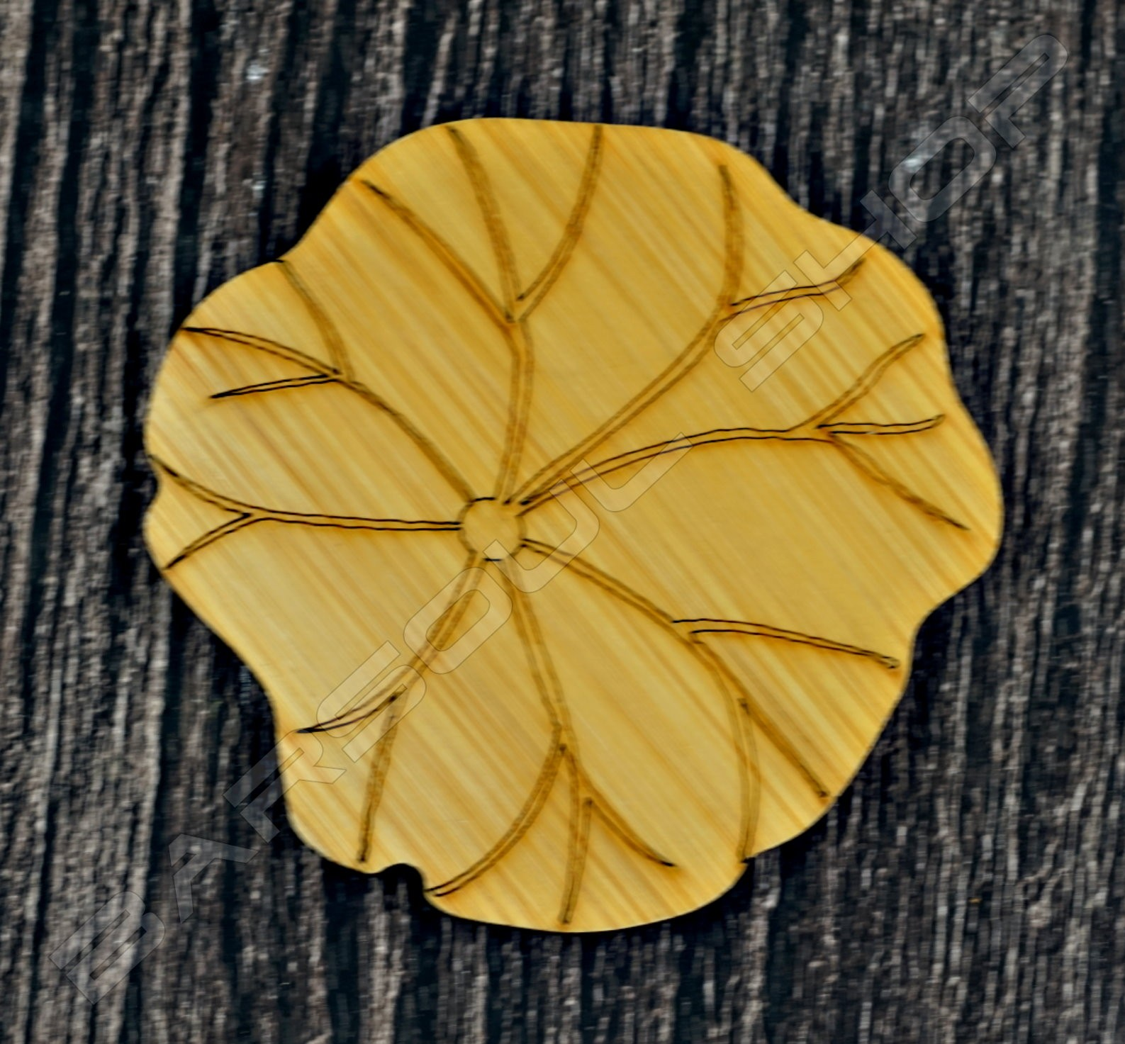 荷葉竹杯墊 Lotus leaf bamboo coaster