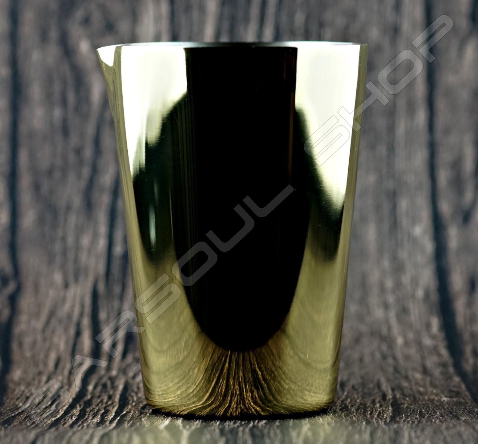 輕量型金屬攪拌杯(鍍金)500ml Lightweight mixing cup(plating gold)