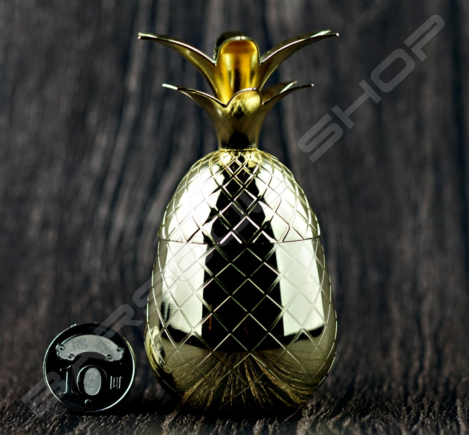 迷你鳳梨造型杯(金色)80ml Mini Plating pineapple tiki cup(gold)