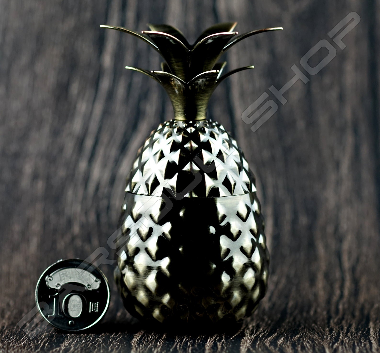 迷你鳳梨造型杯(青銅色)80ml Mini Plating pineapple tiki cup(Bronze)