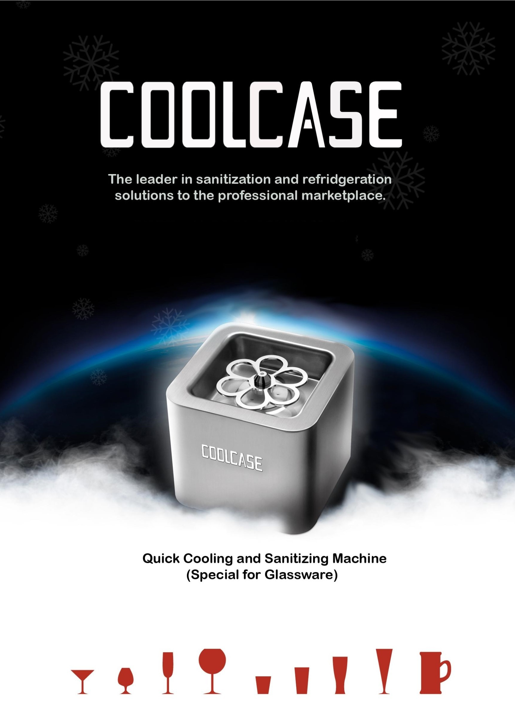 快速CO2冰杯機 COOLCASE quick cooling and sanitizing machine - for glassware