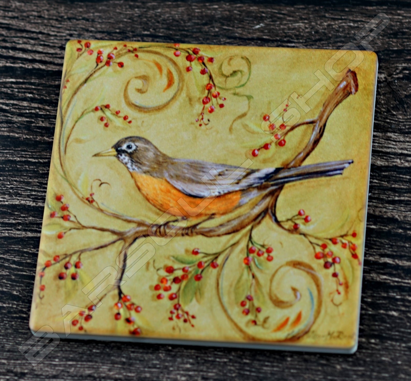 方形陶瓷杯墊(D) Square ceramics coaster