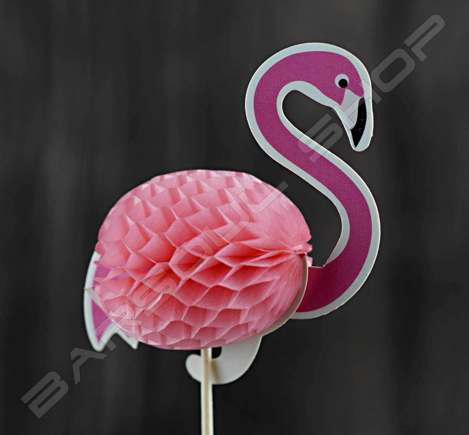 紅鶴裝飾物插(約100支) Red crane cocktail stick