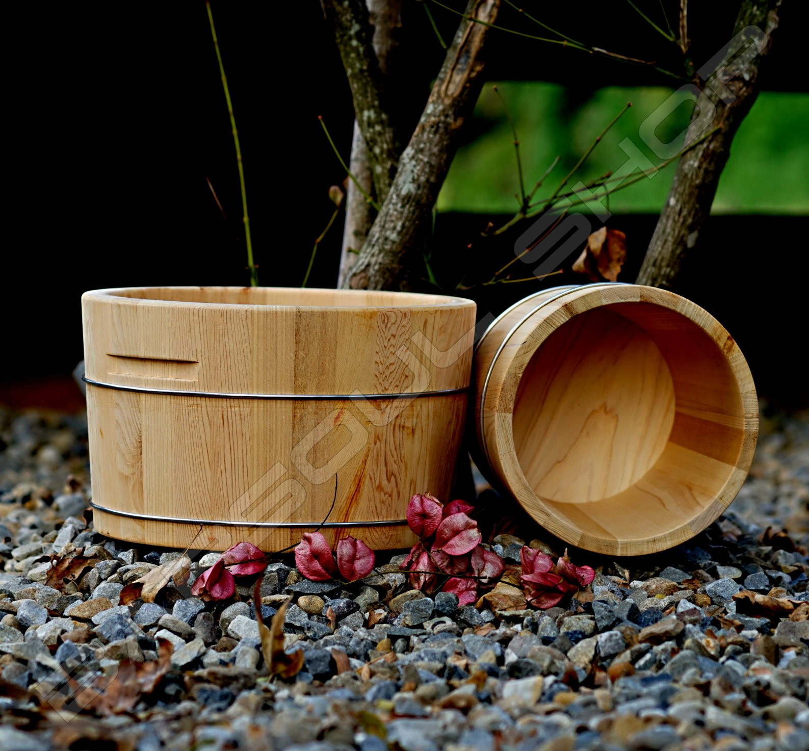 圓形檜木冰塊桶(釀酒)(30cm) Round Beech Ice Bucket (Wine)
