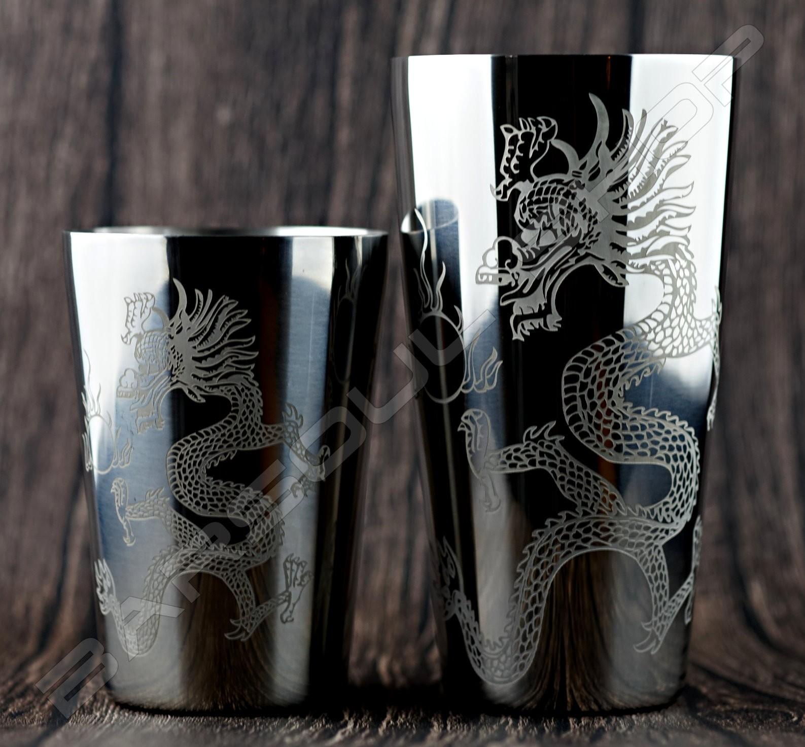 二節式龍騰波士頓shaker組(銀) Boston shaker set(silver)