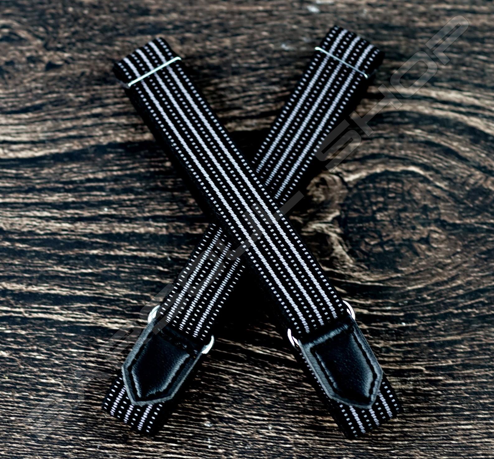 【日本直送】日式伸縮皮飾袖環(黑白細紋) Sleeve garters(D28)