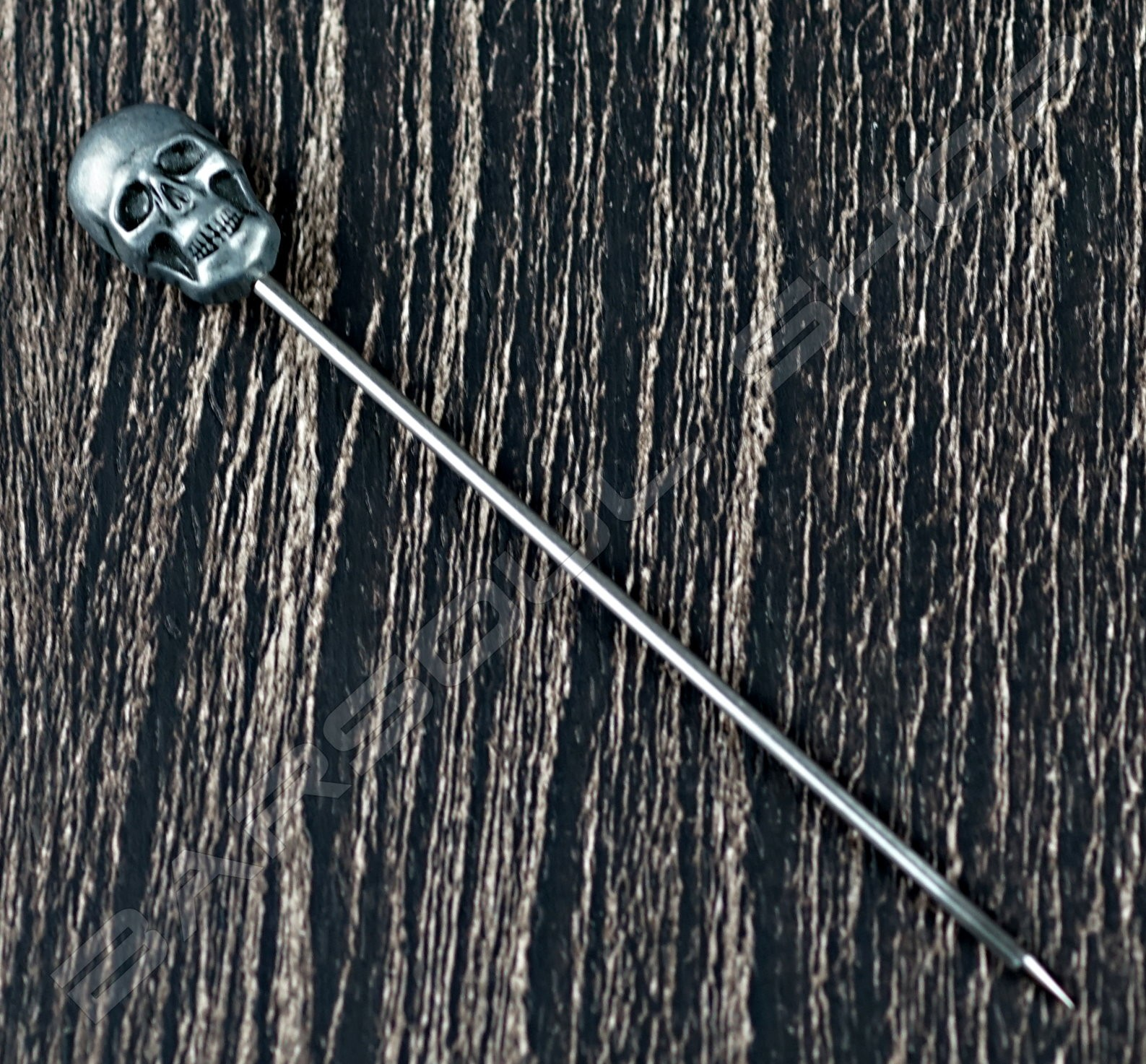 骷髏金屬劍插(銀色) Skull steel cocktail stick(silver)