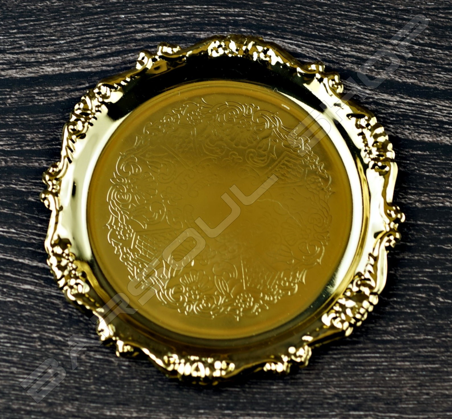 花邊鍍金杯墊(購買6個贈一個鍍金杯架) Lace plating coaster (gold)