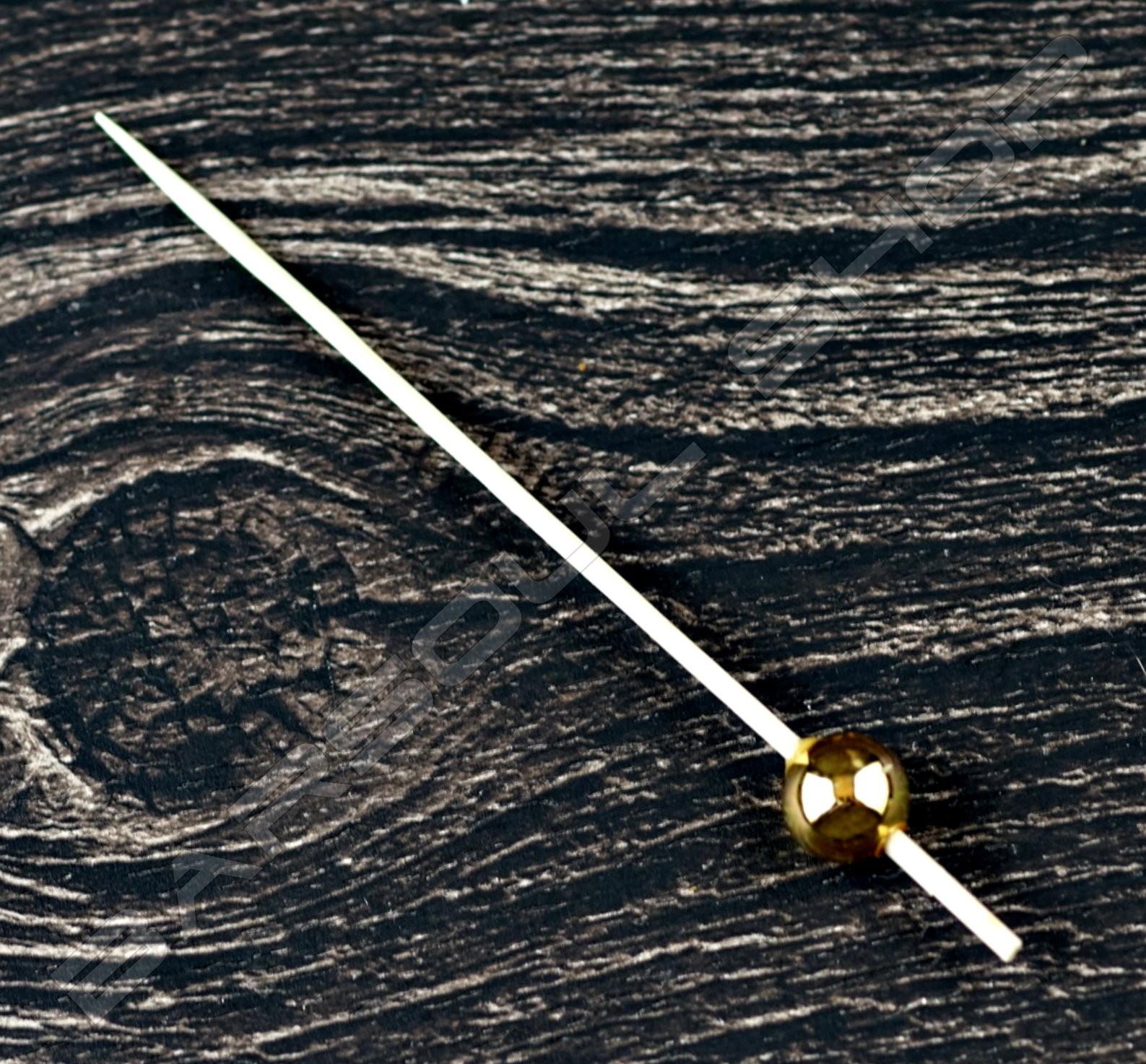 金色光珠裝飾物插(100mm)約100支 Gold  bead cocktail stick