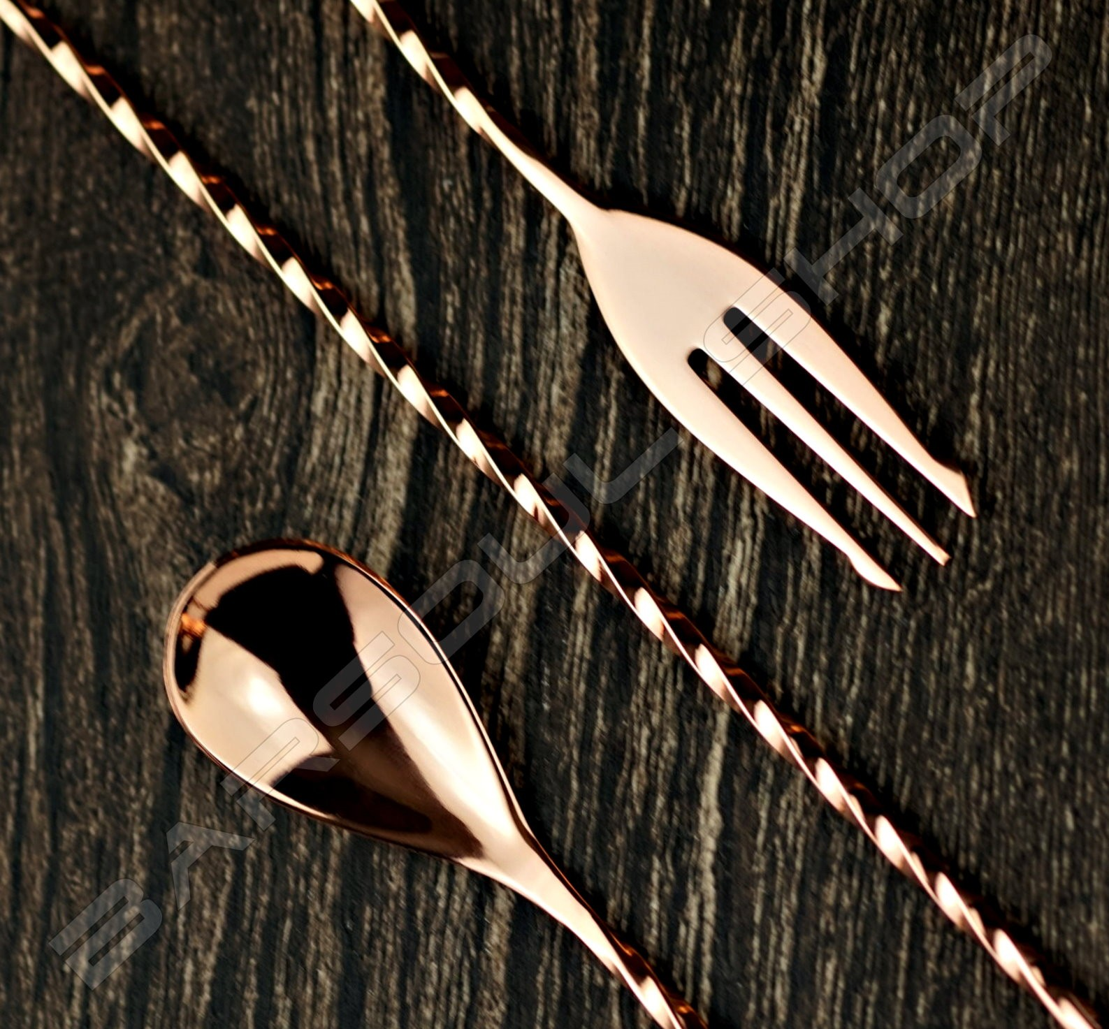 30cm 鍍玫瑰金吧叉匙 Barspoon(plating rose gold)