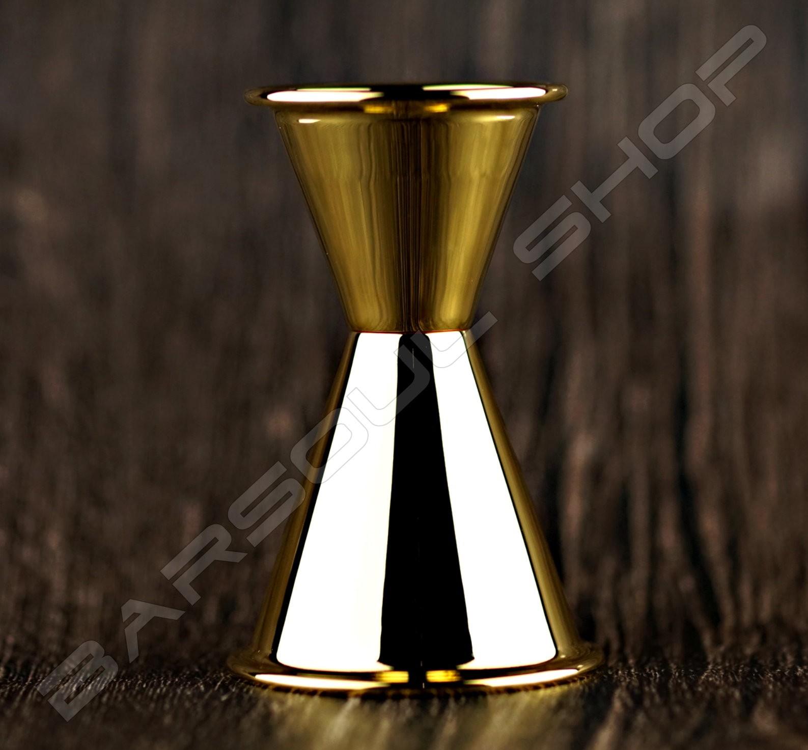 日式厚質量酒器(亮金)30/60ml Japan thick  jigger gold