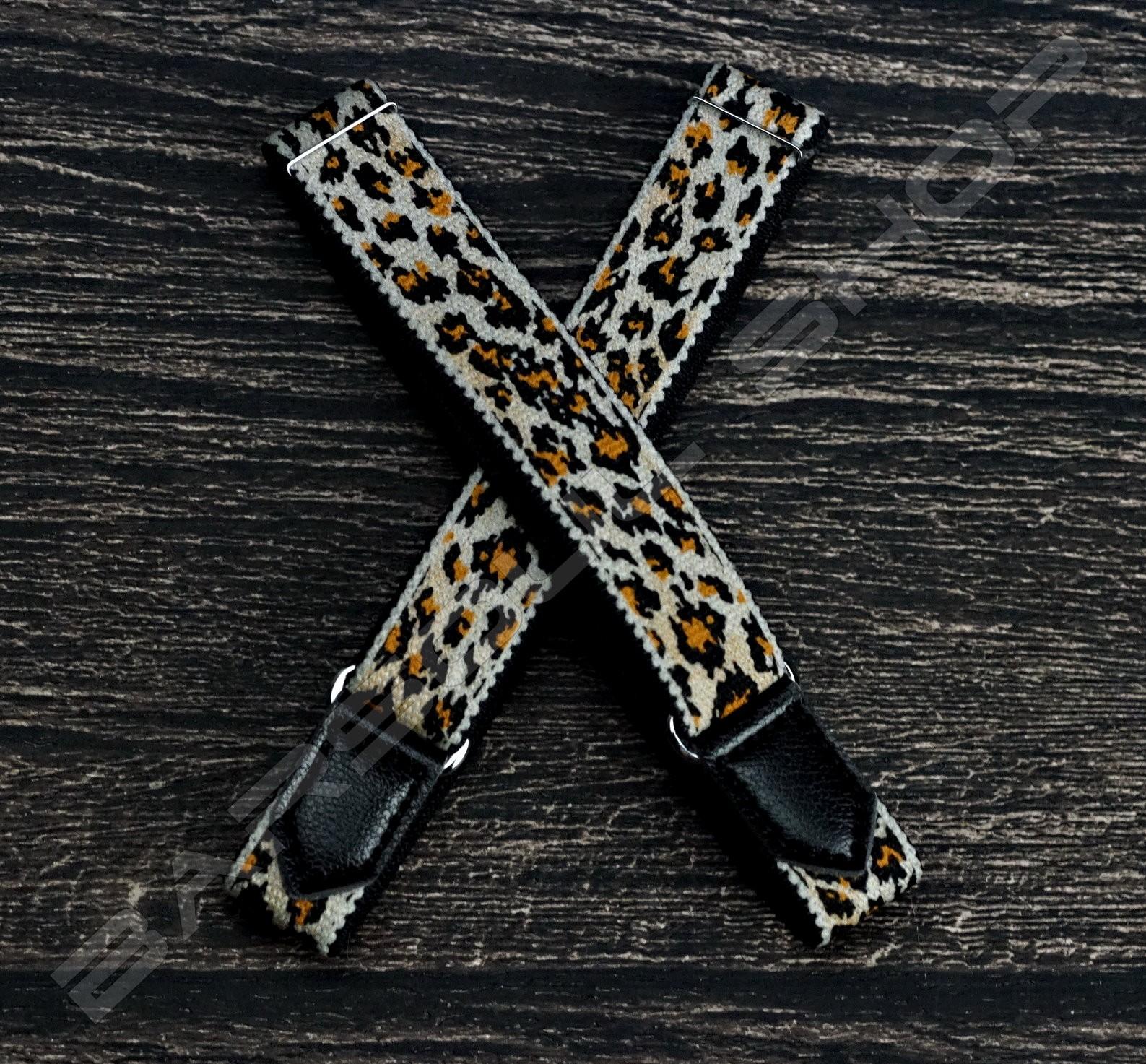 日式伸縮皮飾袖環(豹紋棕) Sleeve garters(D17)