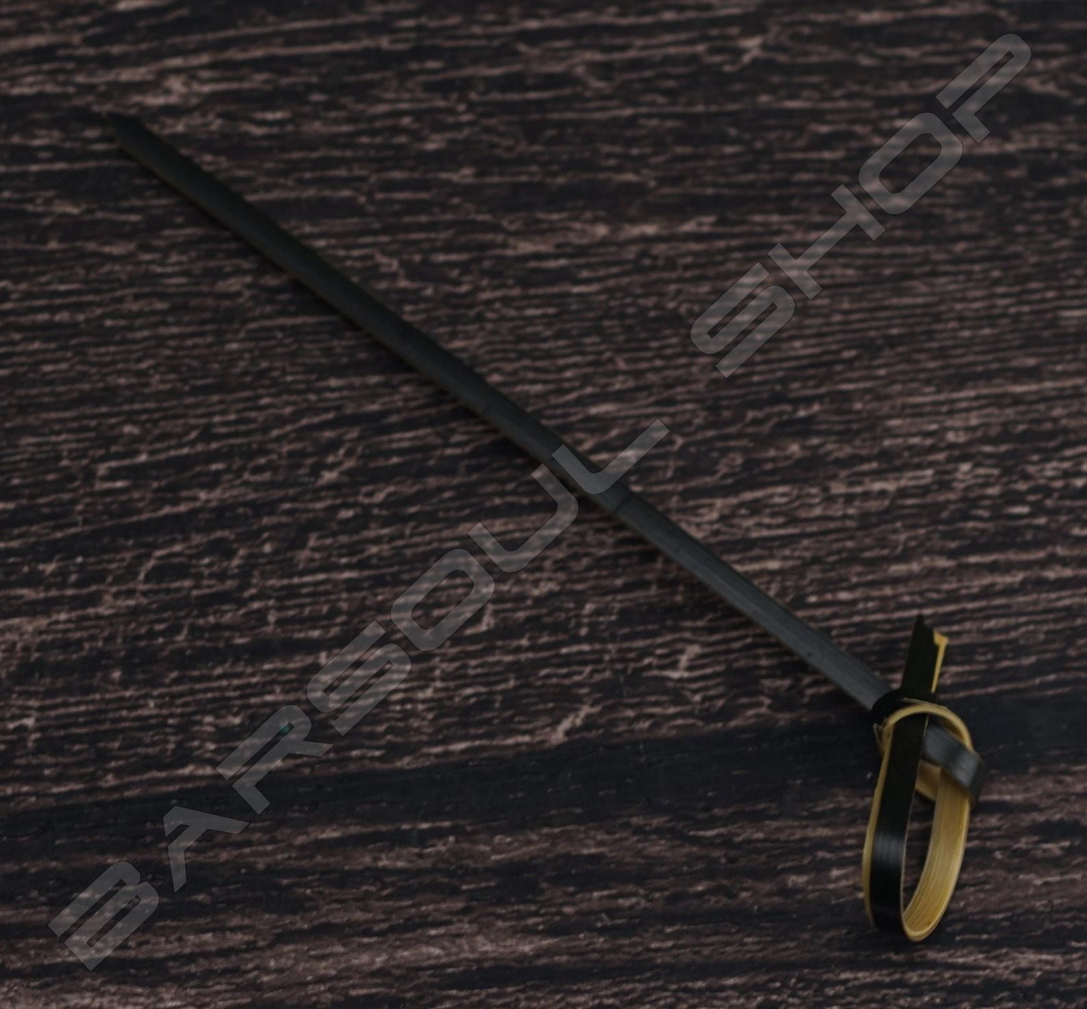 打結型裝飾物插 黑(100mm)約100支 Tie cocktail stick(black)