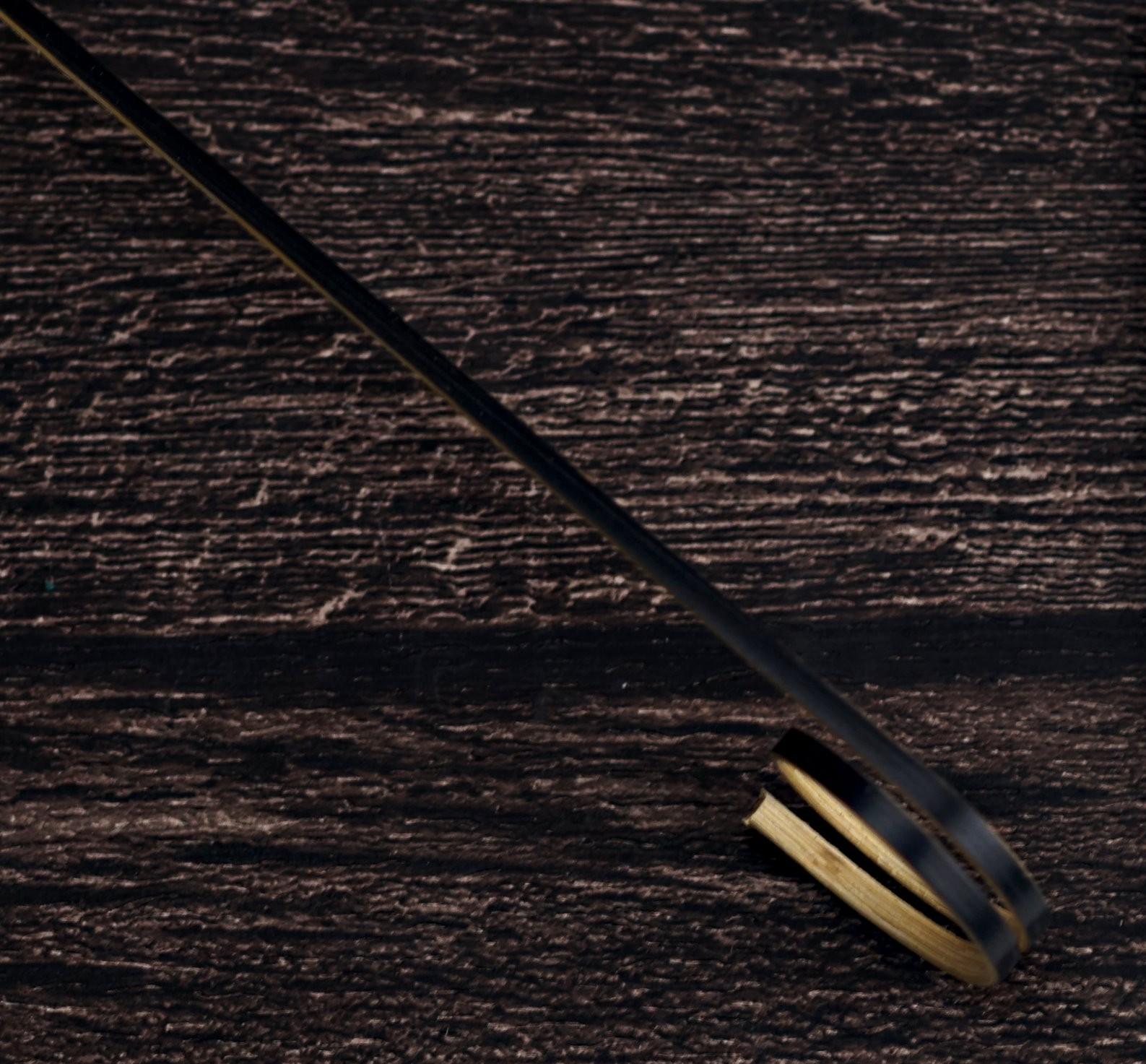 圓圈型裝飾物插 黑(140mm)約100支Round cocktail stick