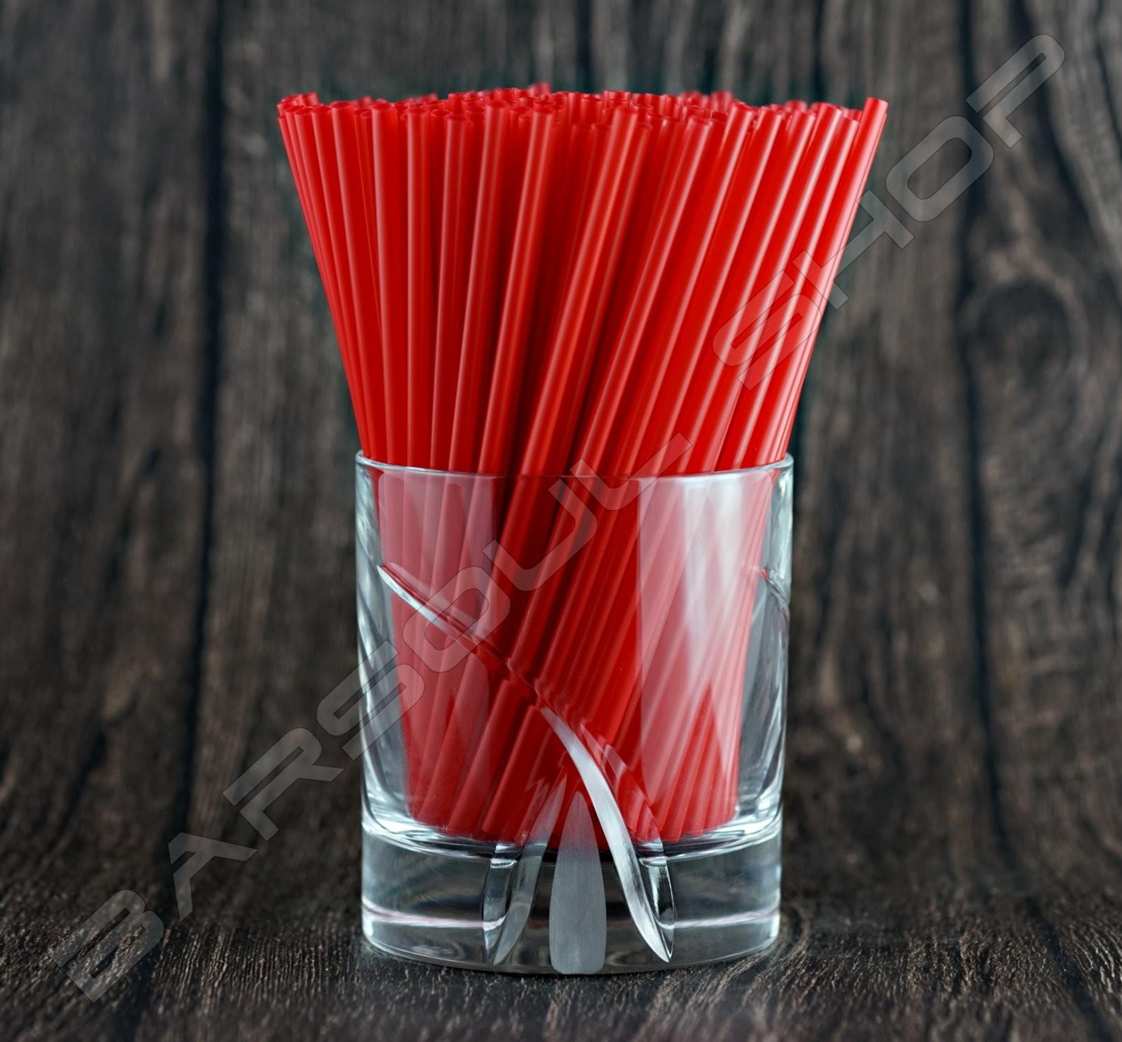 137mm紅色耐火細吸管 Red cocktail straws