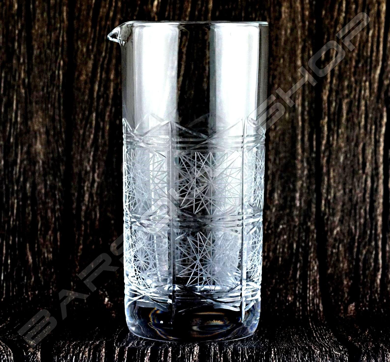 雙功能水晶攪拌杯/吧匙筒(千子星) Crystal mixing glass Star(high) H18cm