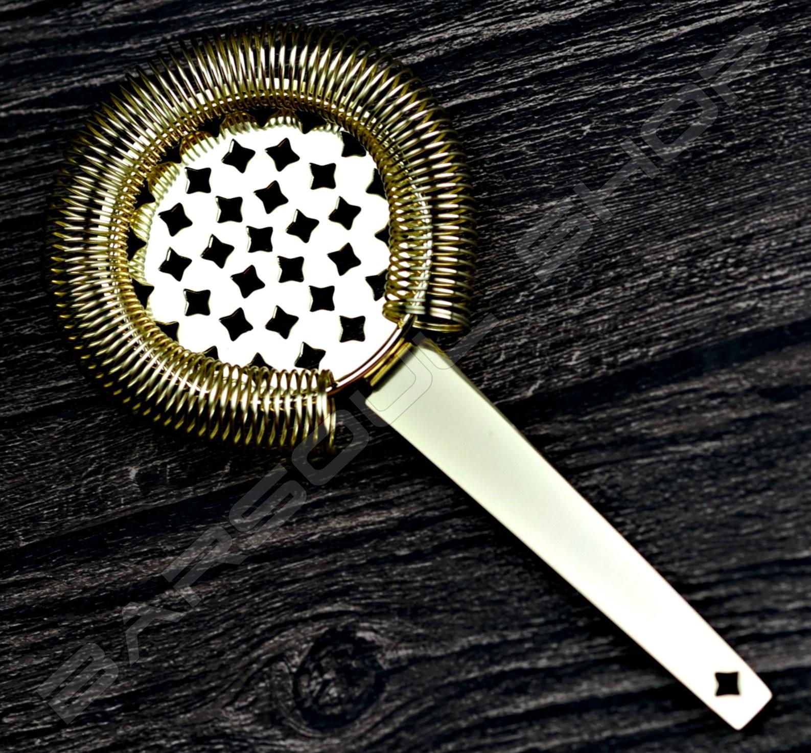 法式飛鏢濾冰器(金色) French darts strainer(gold)