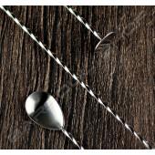 30cm螺旋平底吧叉匙(銀色) Spiral flat barspoon(silver)