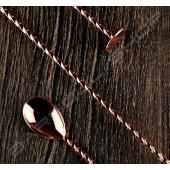 30cm螺旋平底吧叉匙(玫瑰金) Spiral Flat Barspoon (Rose Gold)