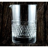 水晶攪拌杯 鑽底紋 Crystal mixing glass Diamond H13cm