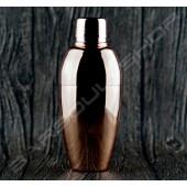 圓弧輕量型三節式雪克杯(鍍銅)450ml Three-section shaker(plating copper)