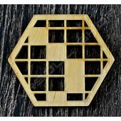 雷雕越南檜木杯墊A Vietnamese cypress coaster