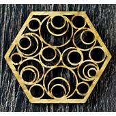 雷雕越南檜木杯墊E Vietnamese cypress coaster
