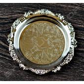 花邊鍍銀杯墊(購買6個贈一個鍍銀杯架) Lace plating coaster (silver)