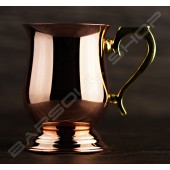 腰身鍍銅杯 Curve copper cup