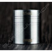 桶狀量酒器15/30ml Barrel jigger matte silver