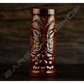 長柱型紅棕大牙 TIKI cup