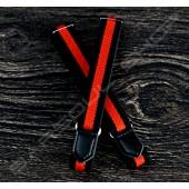 日式伸縮皮飾袖環(黑紅條紋)Japanese Leather arm ring (D20)