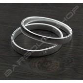 彈性金屬袖環組(銀色) Resilient metal sleeve garters(Silver)