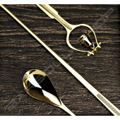 Japan 鈴鐺吧叉匙(金) 30cm bell barspoon bright glod