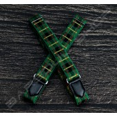 日式伸縮皮飾袖環(俏皮綠) Sleeve garters(D19)