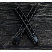 日式伸縮皮飾袖環(櫻花黑) Sleeve garters(D08)