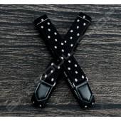 【日本直送】日式伸縮皮飾袖環(黑底白點) Sleeve garters(D21)