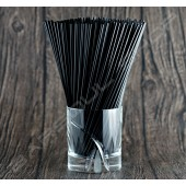 202mm黑色耐火細吸管 Black cocktail straws