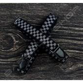 【日本直送】日式伸縮皮飾袖環(黑棋盤) Sleeve garters(D03)
