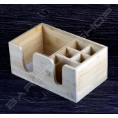 木製質感紙巾盒 Wood tissue straw box